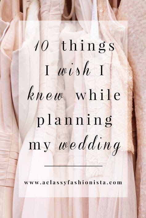 10 THINGS I WISH I KNEW WHILE PLANNING MY WEDDING