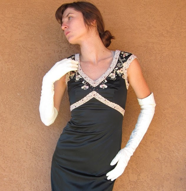 1940s Long White Leather Gloves