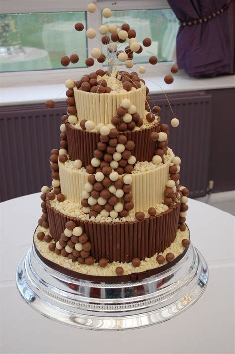 Malteser cake with chocolate cigarillos   Timeless Wedding