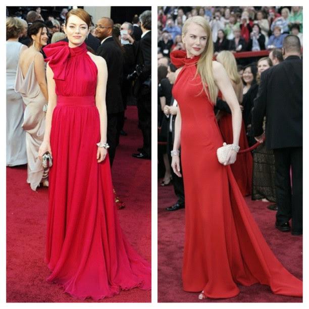 vestidos de Emma Stone y Nicole Kidman Oscar 2012