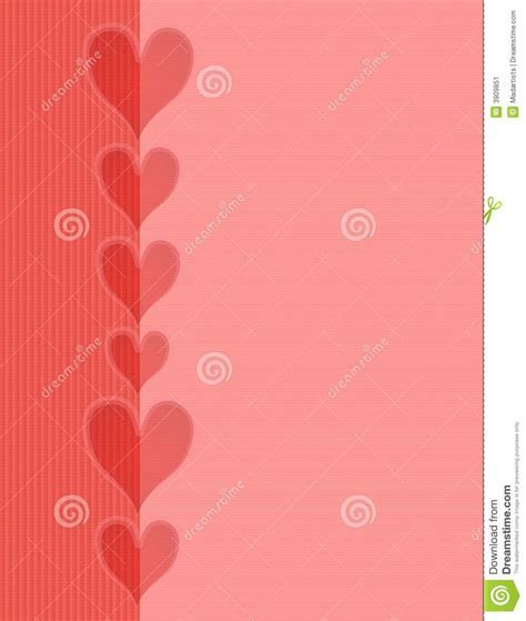 Pink Red Hearts Striped Border Background Stock Image