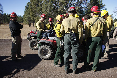 Firefighters prepare for prescribed burn by Coconino National Forest