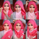 memakai jilbab pashmina sifon elegan kebaya modern