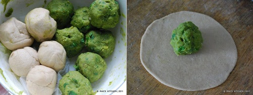 step 4 Peas paratha recipe