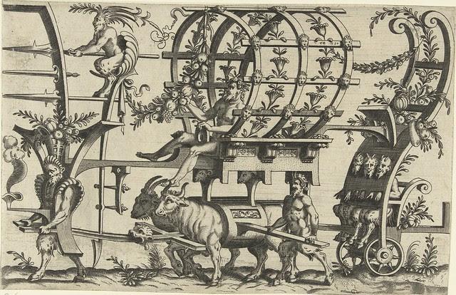 Achterop zitten drie saters... 1550