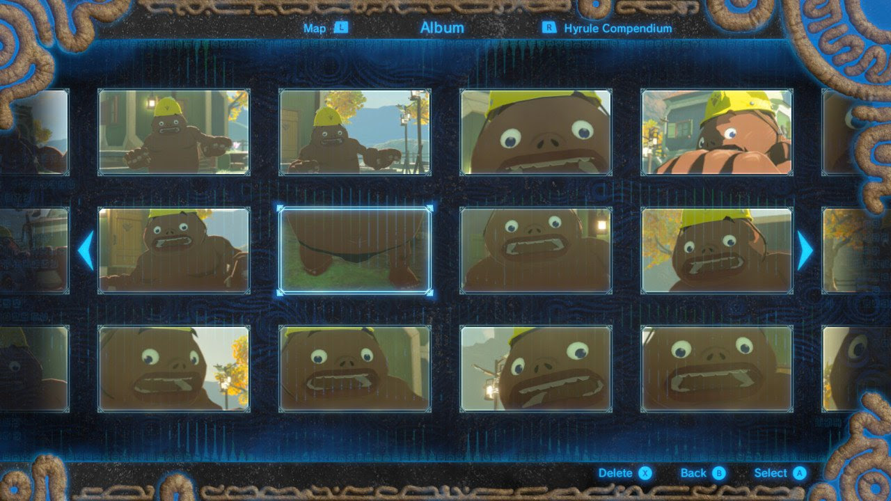 Freaking out this Goron is the best use of the Zelda: Breath of the Wild camera yet screenshot