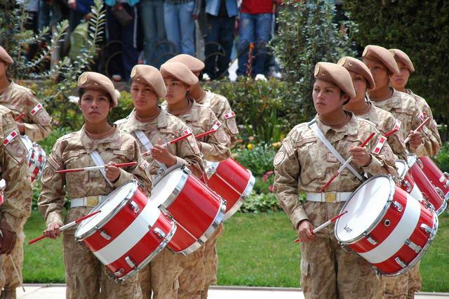 Huancayo, la place de la constitution