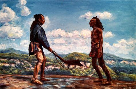 mohicans outright indians rock clouds sky