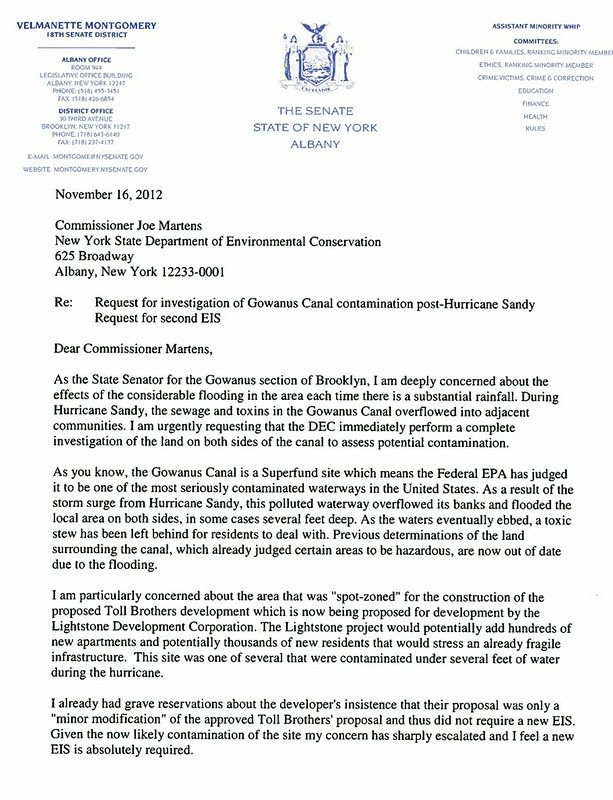 11-12-2012 Letter to DEC requesting toxicity study of Gowanus post Sandy copy