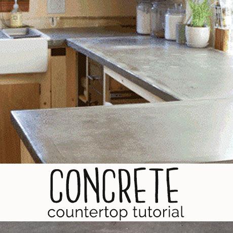 diy how to make concrete countertops