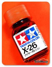 Enamel Paint by Tamiya - X-26 - Clear orange - 10ml