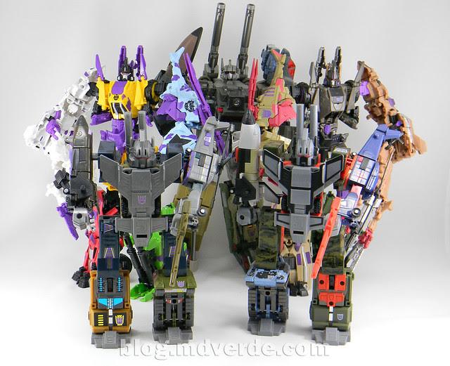 Transformers Bruticus G2 Fall of Cybertron - modo combinado vs otros Bruticus