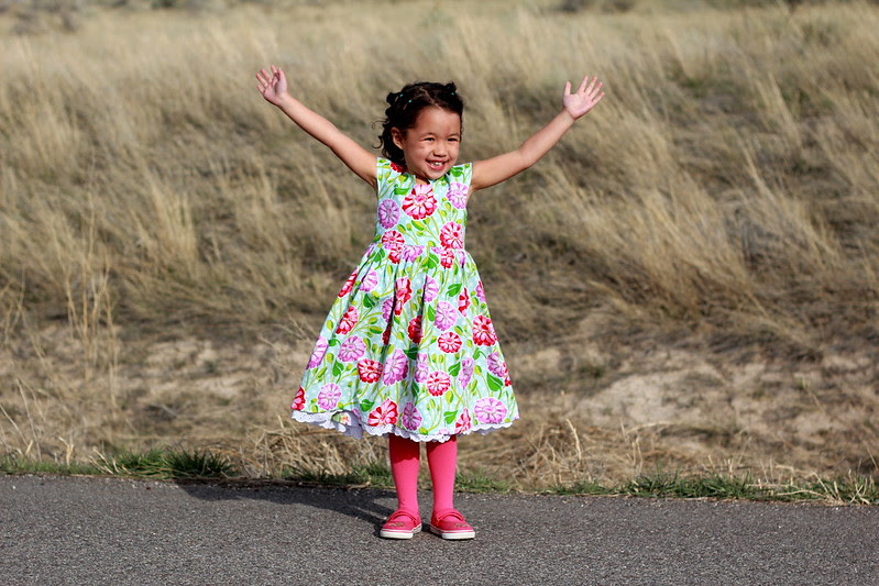 modified geranium dress (pattern by made by rae) by replicate then deviate