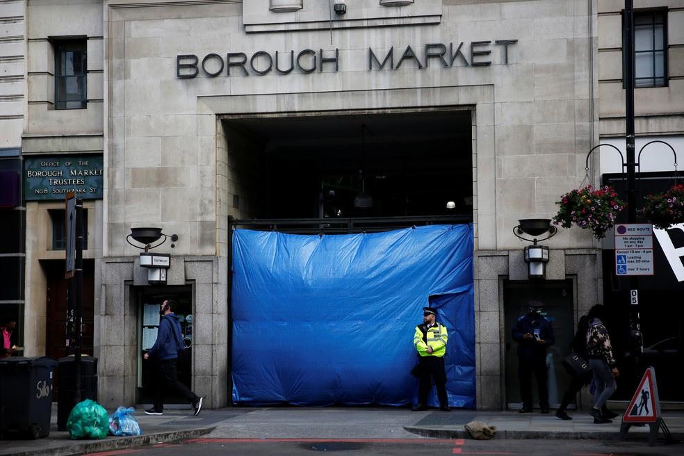 Fachada do Borough Market, fechado desde ataque terrorista no sábado (3) (Foto: REUTERS/Stefan Wermuth)