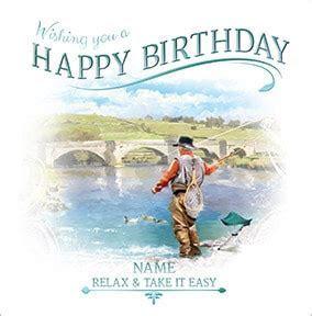 Fishing Personalised Birthday Card   Funky Pigeon