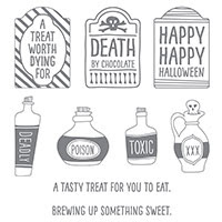 Sweet Hauntings Wood-Mount Stamp Set by Stampin' Up!