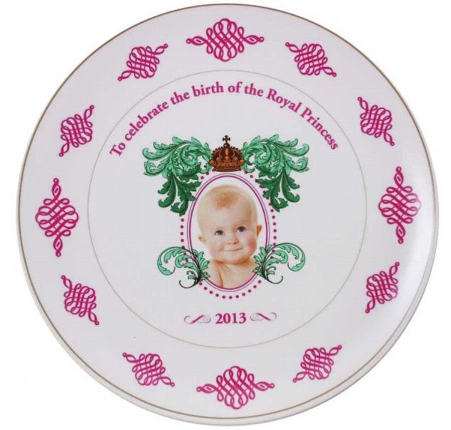 Blunder: These plates were made by a company which couldn't wait to find out the sex of the royal baby