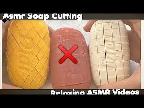 Relaxing amsr video of soap cutting