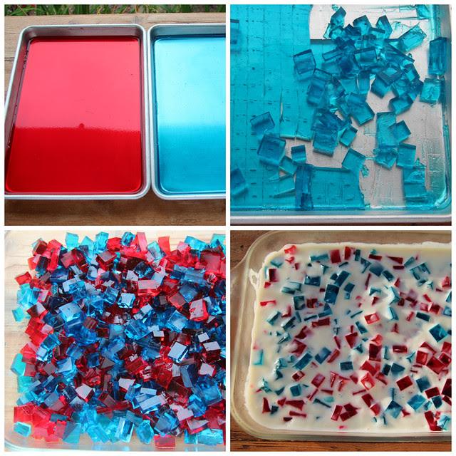 4th of July Patriotic Broken Glass Jell-O