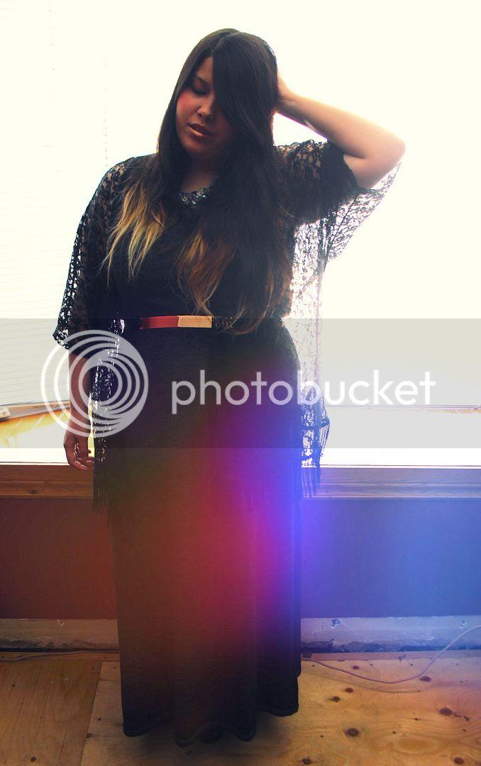plus size fashion jessica ip toronto canada plus size blogger plus size lace kimono plus size maxi dress asos curve