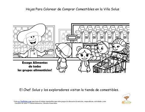 Hoja Para Colorear Del Chef Solus De Diversión En La Tienda De