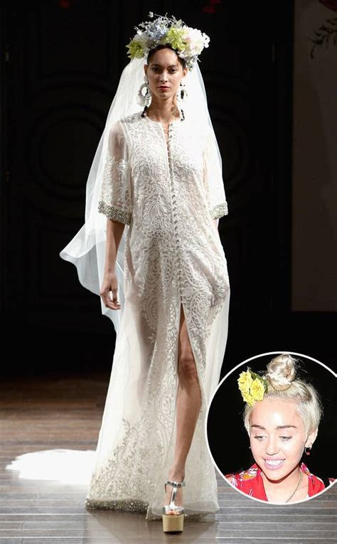 What Type of Wedding Dress Will Miley Cyrus Wear When She