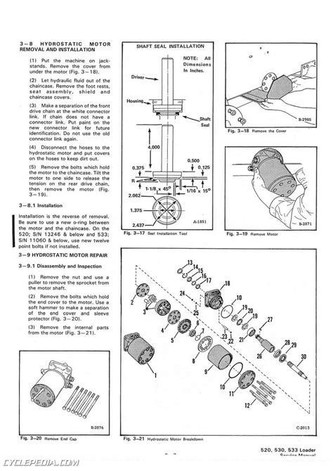 Bobcat 520 530 533 Skid Steer Service Manual | eBay
