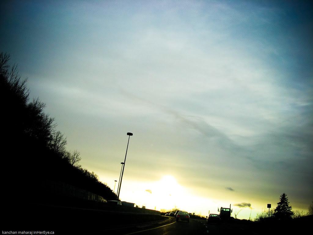 Winter sunset on the DVP 25/365