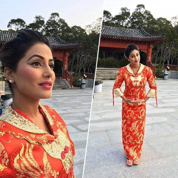 Hina Khan clicked holidaying
