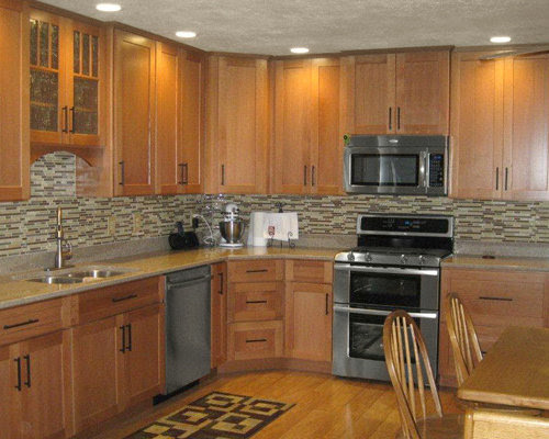 Oak Kitchen Cabinets Home Design Ideas Pictures Remodel