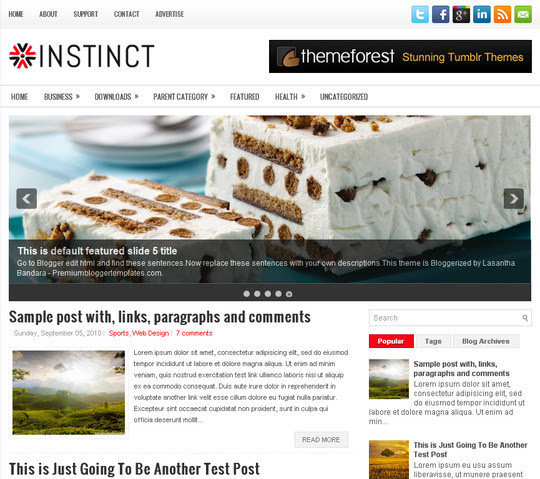 Instinct Blogger Template