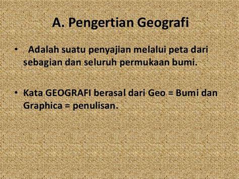 pengetahuan dasar geografi