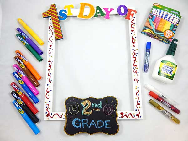 First Day Of School Photo Frame Crayolaca