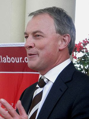 Labour leader Phil Goff addresses a crowd in H...