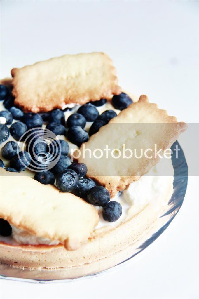 dessert - blueberry custard tart