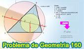 Problema de Geometría 160 (ESL): Triangulo, Circunferencias Inscrita y Circunscrita, Secante que pasa por el Incentro y Circuncentro, Inradio, Relaciones Métricas