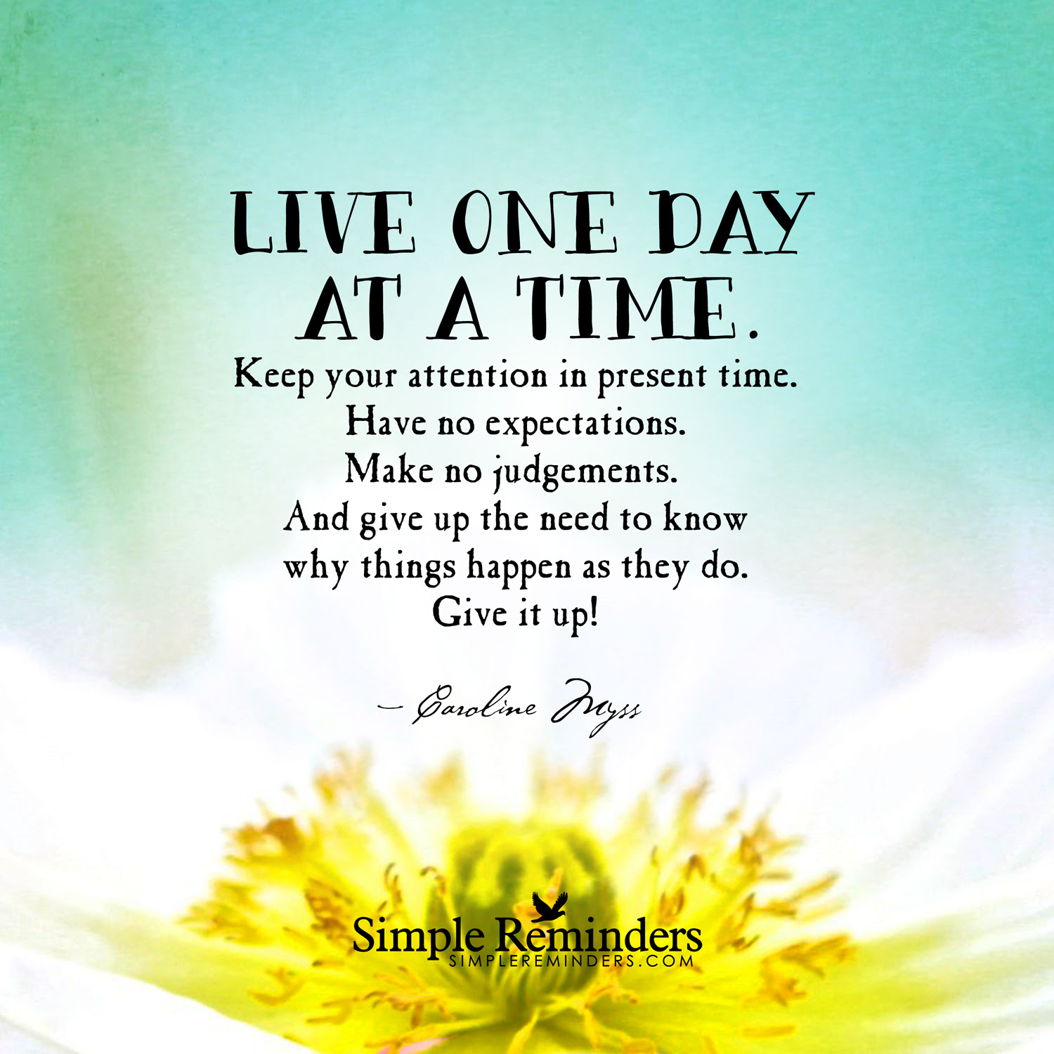 Quotes About One Day At A Time 145 Quotes