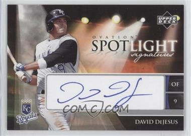 2006 Upper Deck Ovation Spotlight Signatures #DD - David DeJesus - Courtesy of CheckOutMyCards.com