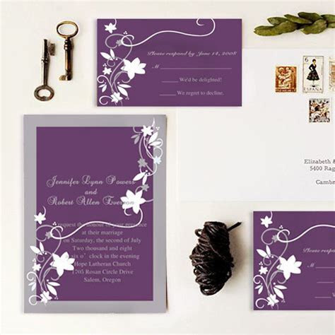 cheap rustic floral plum wedding invitations EWI001 as low