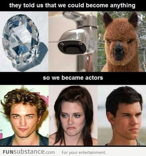 Twilight characters: They told us we could become anything (funsubstance)
