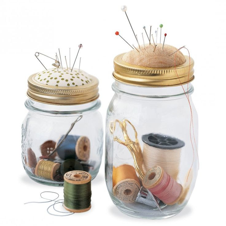 DIY : Sewing Kit in a Jar 15 Cool And Easy DIY Mason Jar Ideas - Always in Trend | Always in Trend