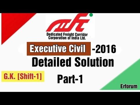 DFCCIL Civil Executive-2016 Video Solution