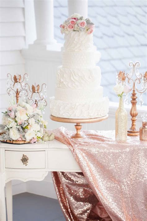 Beautiful Rose, Gold   Ivory Glitter Wedding Ideas {Casey
