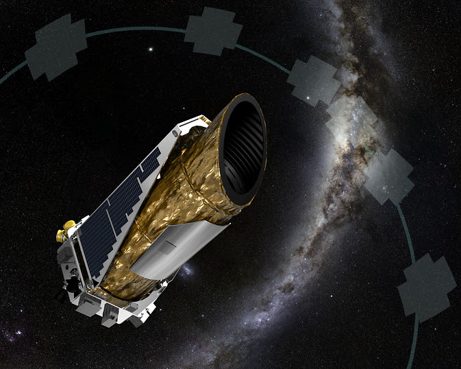 artistic concept shows NASA's planet-hunting Kepler spacecraft