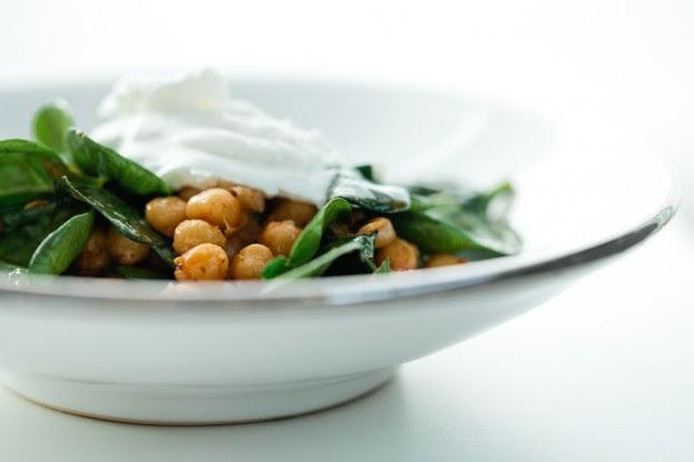 Harissa Chickpeas with Spinach