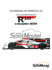 Maqueta de coche 1/24 Studio27 - Audi R18 e-tron quattro  - 24 Horas de Le Mans 2014 - kit multimaterial