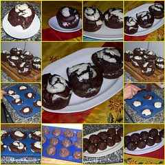 MUFFINS DE AVELLANAS Y CHOCOLATE Y QUESO