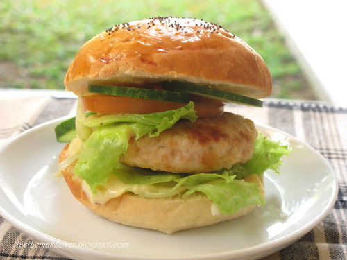 Homemade chicken burger