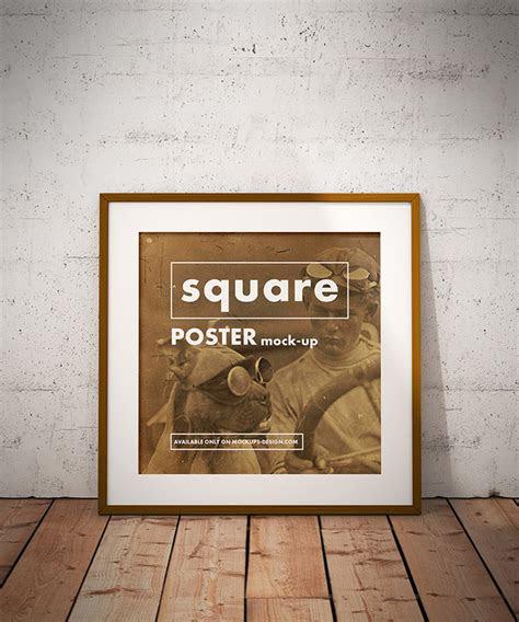 square poster mockup mockups design  premium