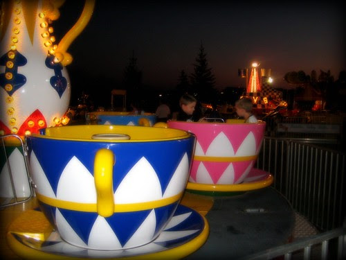 Riding with boys in teacups